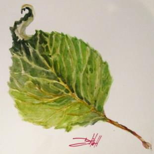 Art: Apple Leaf-sold by Artist Delilah Smith