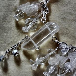 Art: Crystal Necklace by Artist Vicky Helms