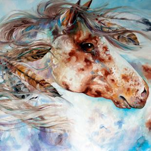 Art: THUNDER APPALOOSA INDIAN WAR HORSE by Artist Marcia Baldwin