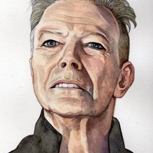Art: David Bowie Blackstar by Artist Mark Satchwill