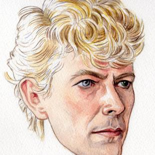 Art: David Bowie 1983 by Artist Mark Satchwill