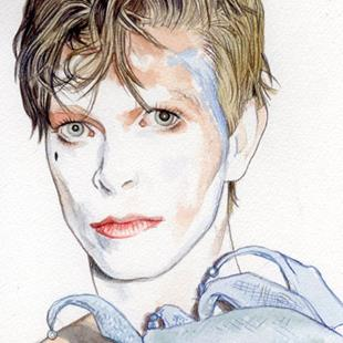 Art: David Bowie 1980 by Artist Mark Satchwill