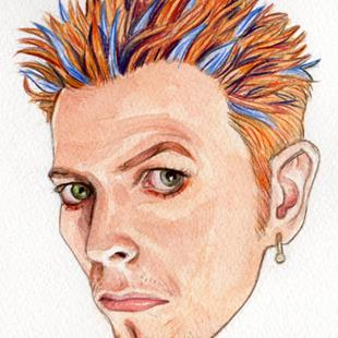 Art: David Bowie 1997 by Artist Mark Satchwill