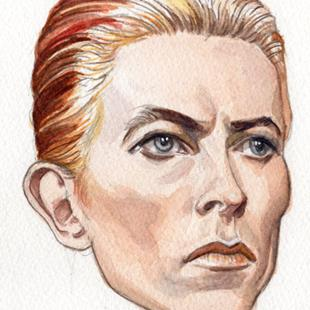 Art: David Bowie 1976 by Artist Mark Satchwill