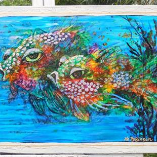 Art: Reef Fish II SOLD by Artist Ke Robinson