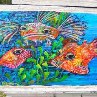 Art: Reef Fish III  SOLD by Artist Ke Robinson