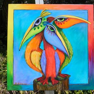 Art: Sanibel Pelicans -SOLD by Artist Ke Robinson