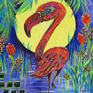 Art: SD Flamboyant Flamingo -SOLD by Artist Ke Robinson