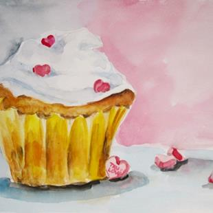 Art: True Love Cupcake by Artist Delilah Smith