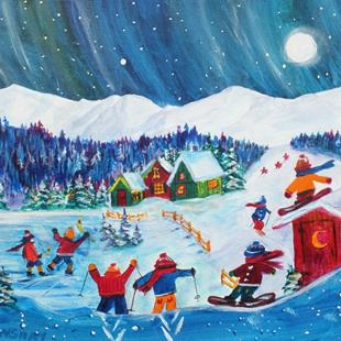 Art: Winter Gathering (sold) by Artist Kathy Crawshay
