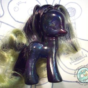 Art: Galaxy Pony MLP Repaint by Artist Emily J White
