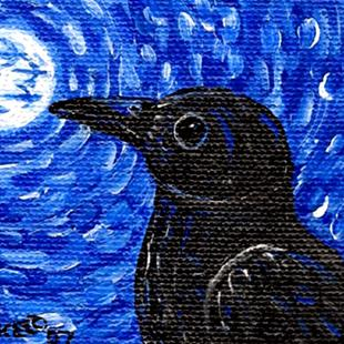 Art: Moon Crows by Artist Melinda Dalke