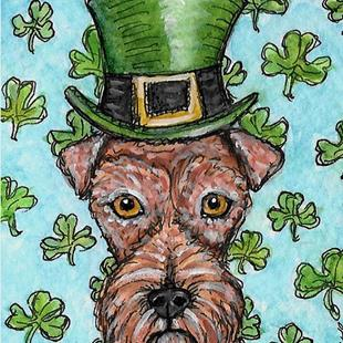 Art: Leprechaun Terrier by Artist Melinda Dalke