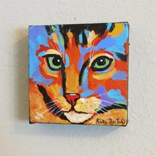 Art: Abstract Cat  - Sold by Artist Ulrike 'Ricky' Martin