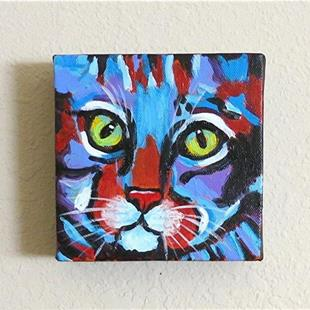 Art: Abstract Kitty - Sold by Artist Ulrike 'Ricky' Martin