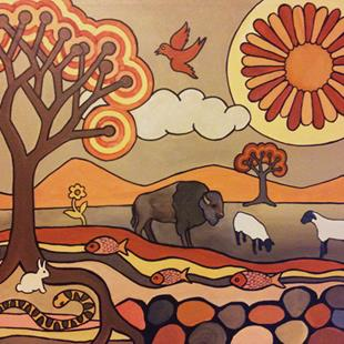 Art: Where The Buffalo Roam by Artist Lindi Levison