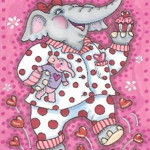 Art: GOOD MORNING VALENTINE by Artist Susan Brack