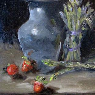 Art: Still Life With Asparagus by Artist Delilah Smith