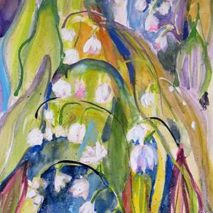 Art: Lily of the Vally by Artist Delilah Smith