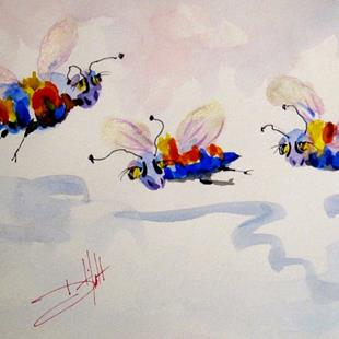 Art: Fat Bees by Artist Delilah Smith