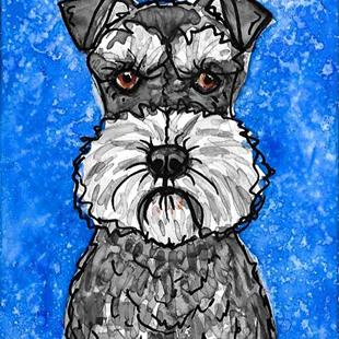 Art: The Schnauzer Blues by Artist Melinda Dalke