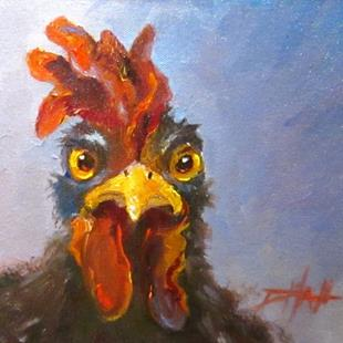 Art: Rooster with Attitude by Artist Delilah Smith