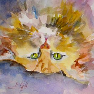 Art: Yellow Kitty by Artist Delilah Smith