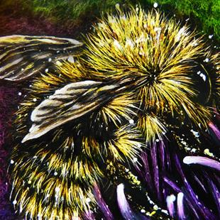 Art: Pollination - SA102  (SOLD) by Artist Monique Morin Matson