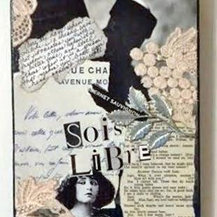 Art: Colette Collage 2 (SOLD) by Artist Vicky Helms
