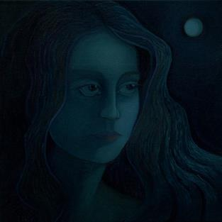 Art: Moonshadow by Artist Elizabeth Fiedel