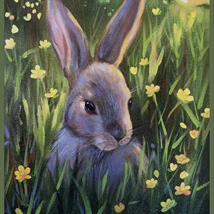 Art: Mum Says Don't Eat Buttercups by Artist Patricia  Lee Christensen