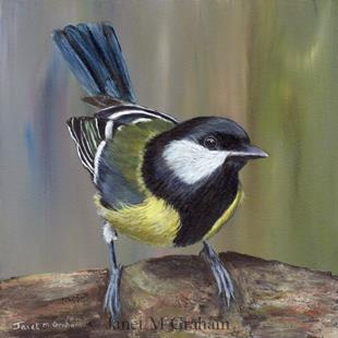 Art: Great Tit by Artist Janet M Graham