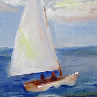 Art: Sailboat by Artist Delilah Smith