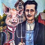 Art: Animal Farm Gothic by Artist Patience