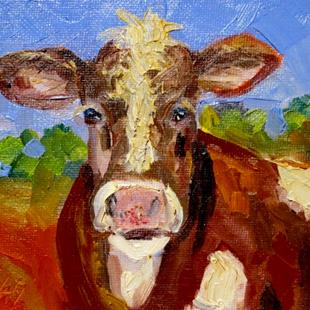 Art: Farm Cow by Artist Delilah Smith