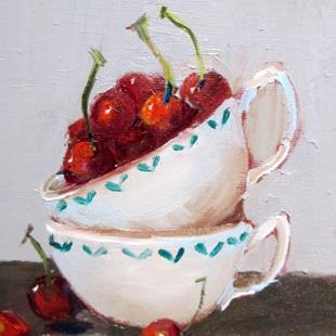 Art: Cup of Cherries by Artist Delilah Smith