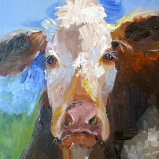 Art: Cow No.10 by Artist Delilah Smith