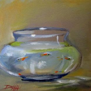 Art: Fish Bowl-sold by Artist Delilah Smith