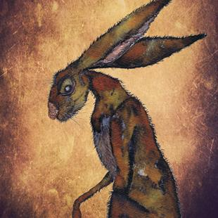 Art: BROWN HARE h3204 by Artist Dawn Barker