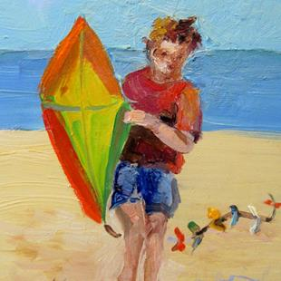 Art: Kite Flyer by Artist Delilah Smith
