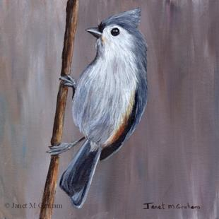 Art: Tufted Titmouse No 7 by Artist Janet M Graham