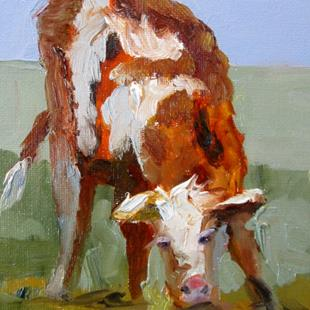 Art: Calf by Artist Delilah Smith