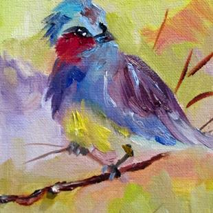 Art: Spring Bird by Artist Delilah Smith