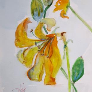 Art: Day Lily by Artist Delilah Smith