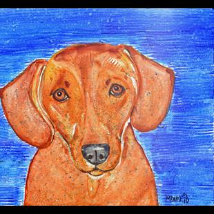 Art: Color Dog 1 by Artist Melinda Dalke