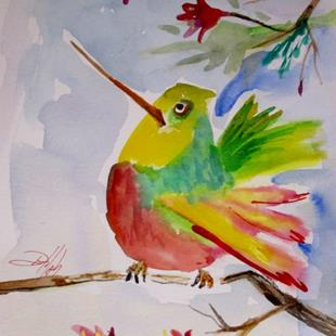 Art: Fat Hummingbird by Artist Delilah Smith