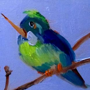Art: Green Hummingbird by Artist Delilah Smith