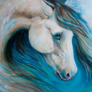 Art: BUCKSKIN BLUES by Artist Marcia Baldwin
