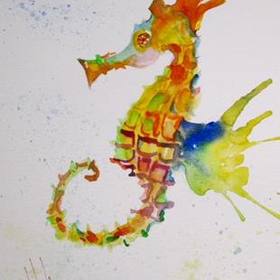 Art: Wild Seahorse by Artist Delilah Smith