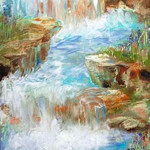 Art: Meditation Falls by Artist Alma Lee